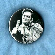 JOHNNY CASH  BADGE.  Rock'n'roll, country, rockabilly, Sun Records.