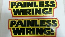 "Lot of 2 VINTAGE PAINLESS WIRING racing stickers 9"" X 3 .25"""