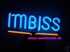 IMBISS @ Leuchtreklame Neonreklame Neon signs Neonleuchte  Werbung Reklame