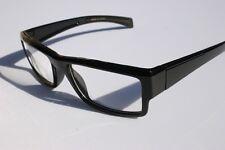 Black RECTANGLE SMART NERD LOOKING GLASSES Fashion Eyewear P1920