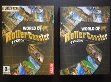COFFRET 6 JEUX PC CD-ROM : WORLD OF ROLLER COASTER TYCOON (Atari COMPLET suivi)