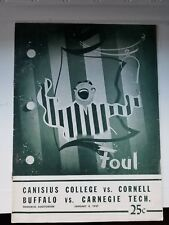 1947 Canisius, Cornell, Buffalo, UB Canegie Tech College Basketball Program