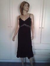 DOROTHY PERKINS BLACK DRESS SIZE 12 BNWOT DIAMONTE EMBELLISHED