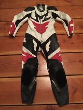 RARE🔥 Fieldsheer One-Piece Racing Leather Men's M Suit Sz 42 Black Red White