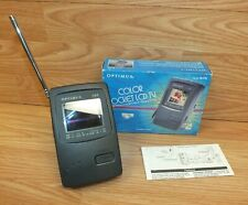 Vintage Optimus 2.2'' Auto-Tune Color Pocket LCD TV Portable Television in Box