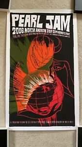 Pearl Jam 2006 Numbered North American Tour Poster
