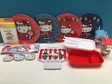 NWT Hello Kitty Omatsuri Bento Box Plates Cups Headband Candy Sours Tote Bags
