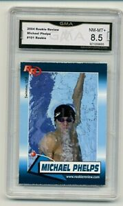 2004 Rookie Review Michael Phelps USA Olympic Graded GMA 8.5 -   #2