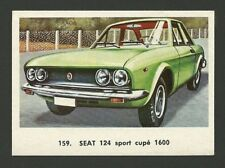 Seat 124 Sport Coupe 1600 Vintage Car Collector 1972 Trading Card from Spain
