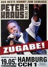 Kraus, Peter - 2016-concerto MANIFESTO-il migliore arriva... - TOUR POSTER-Amburgo