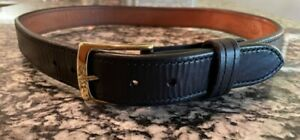 A&G Leather Pistol Holster Belt, Concealed Carry, Size 39