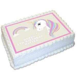 Unicorn A4 Edible Icing Cake Topper