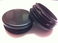 50 x Plastic Black Blanking End Cap Caps Round Tube Pipe Inserts 45mm 1 3/4""