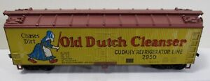 Vintage HO Scale Athearn Old Dutch Cleanser Cudahy Wood Reefer #2950