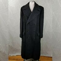 Vintage Alpaca Wool Fuzzy Coat Mens size 40/42 Overcoat long Duster trench