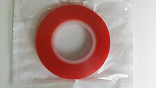 9mm x 10m - Red  Double Sided Tape Strong Sticky and ideal for making lampshades
