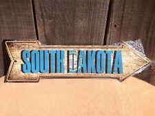 "South Dakota State Flag This Way To Arrow Sign Novelty Metal 17"" x 5"""