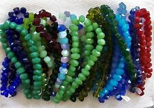 19 Strand LOT Large Chunky Faceted Glass Nugget Beads 13x18mm Slightly Imperfect