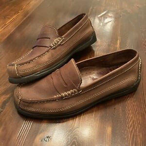 Borelli Men's Shoes Hunter. Brown  Soft Leather  Shell Size 8. Great Condition.