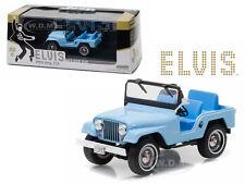 1963 JEEP CJ5 SIERRA BLUE ELVIS PRESLEY 1/43 DIECAST MODEL BY GREENLIGHT 86310