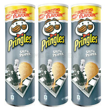 3 x Pringles Salt & Pepper Flavor Potato Chips 165g 5.8oz