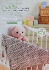 Knitting Pattern for Stunning Baby Blanket.