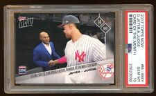 PSA 10 AARON JUDGE RC / DEREK JETER TOPPS NOW SP #M-MAY  SUPER RARE SHORT PRINT