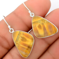 Natural Tiger Bee 925 Sterling Silver Earrings Jewelry 9200