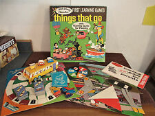 "Vintage Walt Disney Board Game & Activity Set ""things that go"" 1969"