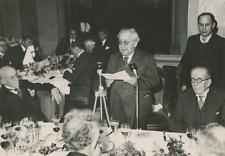 Paris, M. Gaubert au banquet de la Presse Vintage silver print Tirage argentiq