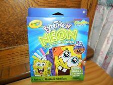 Crayola Color Explosion Neon Spongebob Nickelodeon Markers Paper New