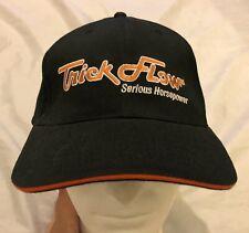 "Trick Flow Embroidered Logo Hat Cap Black ""Serious Horsepower"" Adjustable NWOT"
