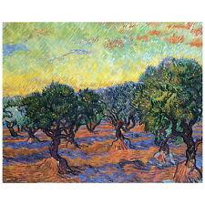 Van Gogh, Olive Grove, Orange Sky Deco FRIDGE MAGNET, 1889 Fine Art Repro Gift