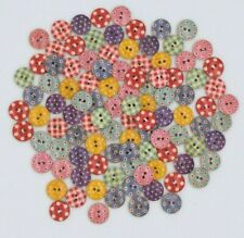 Sale  - Set of 20 Assorted Colourful Pattern Wooden Buttons