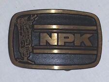 VINTAGE NPK HYDRAULIC HAMMER BELT BUCKLE, SOLID BRASS