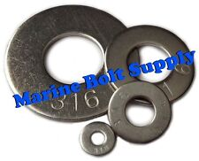 Type 316 Stainless Steel Flat Washers (Sizes #4 to 3/4