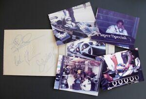 COLIN CHAPMAN ELIO DE ANGELIS NIGEL MANSELL HAND SIGNED 1982 LOTUS 91 COA RARE