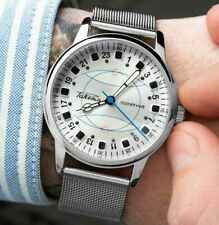 New!! Raketa Watch 24h polar Mechanical Russian Men's Soviet USSR Rare Vintage