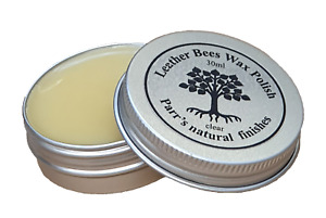 Beeswax Leather Polish - 30ml  starter tin - all natural