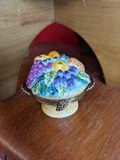 New listing Limoges Artoria Box Rare & Collectible France Porcelain Fruit Basket Peint Main