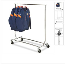 Preowned Single Rolling Clothes Rack Excellent Condition Local Pickup Only