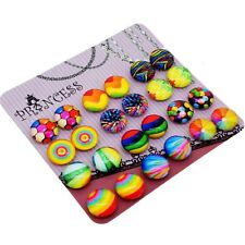 Glass Dome Magnetic Clip-on Earrings for Teen Girls Kids Women non-pierced Ears