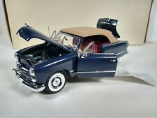 Franklin Mint 1/24 Scale 1949 Ford Convertible Blue Car Removable Roof B406