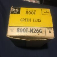ALLEN-BRADLEY GREEN LENS 800T-N26G Lot Of 10 Factory Sealed Bag NOS Ser A