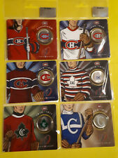 ENDS DEC 10 * 2009 Montreal Canadiens Anniversary 50 cent Jersey set of 6
