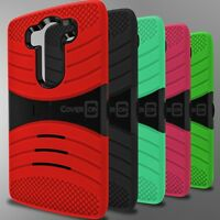For LG V10 Phone Case - Hybrid Heavy Duty Tough Protective Hard Kickstand Cover