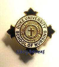 DUKE UNIVERSITY School of Nursing Pin Badge Hospital Nurse College