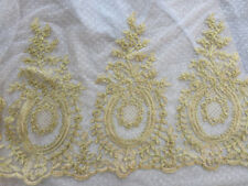 Gold Corded Wedding Veiling Trim Bridal Dress Lace Edging Embroidery Ribbon 1 Y