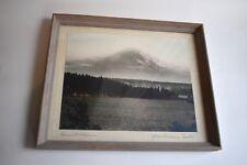Vintage Mount Rainier Photograph, James Bert Barton, Signed, Framed, Sunset, Wa