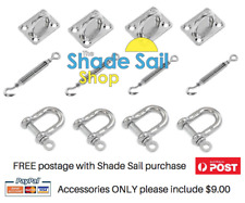 Shade Sail 6mm Installation Accessory Kit 12pcs Square / Rectangle shade sails